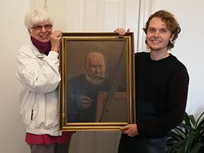 H.P.Carlsen selvportræt doneret til museet