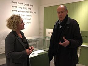 Oscar Plougmand besøger museet