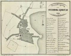 Grundtegning af Svendborg Kjøbstad 1819