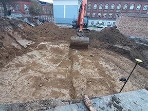 Udgravning ved Vor Frue Kirke